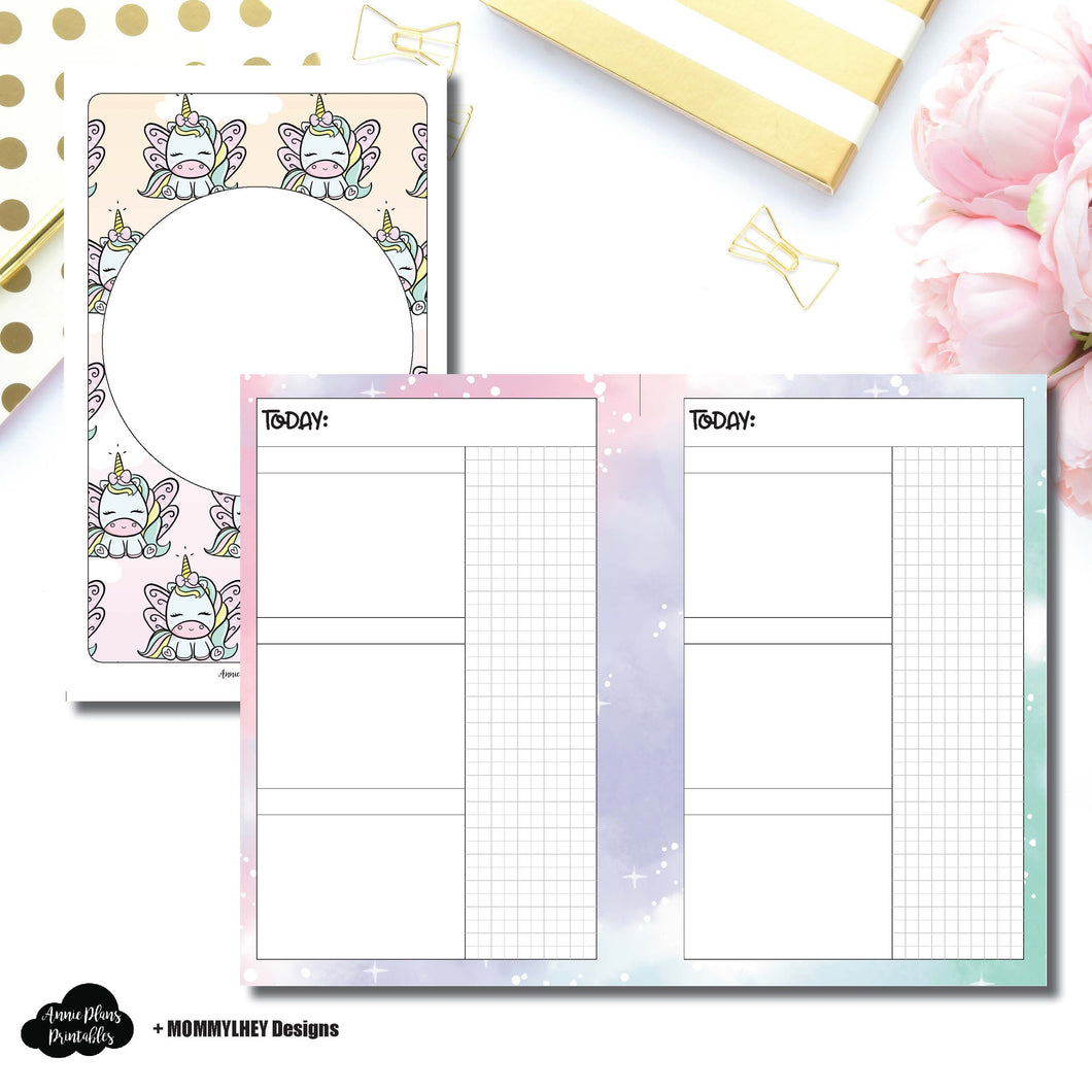 Mini HP Size | MommyLhey Designs Collaboration Undated Daily Printable Insert ©