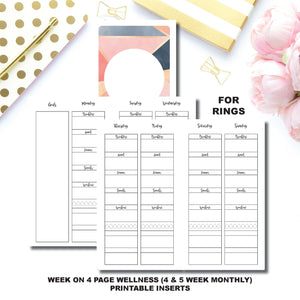 Personal Rings Size | Wellness Tracker Printable Insert ©