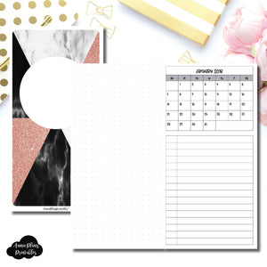 Cahier TN Size | Monthly Dated Important Dates with Dot Grid Printable Insert ©