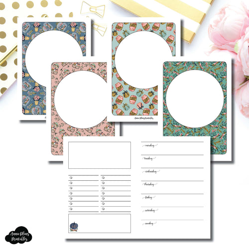 Passport TN Size | Blank Covers + Undated Week on 2 Page Collaboration Printable Insert ©