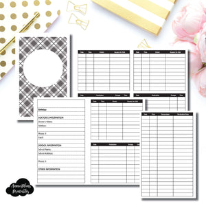 POCKET TN Size | KIDS Information Printable Insert ©