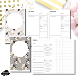 Half Letter Rings Size | Social Media Tracking Bundle Printable Insert for Travelers Notebook ©
