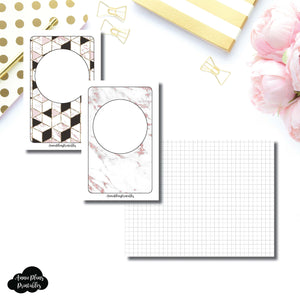 Pocket TN Size | Plain GRID Printable Inserts ©