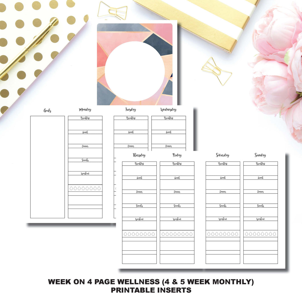 B6 TN Size | Wellness Tracker Printable Insert ©