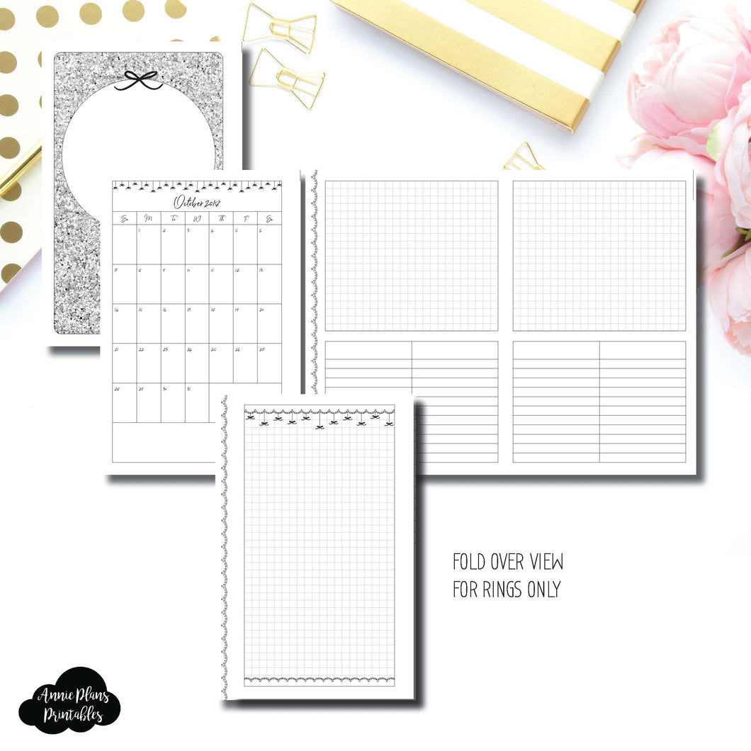 Half Letter Rings Size | 15 Month (OCT 2018 - DEC 2019) Fold Over EllePlan Collaboration Printable Insert ©