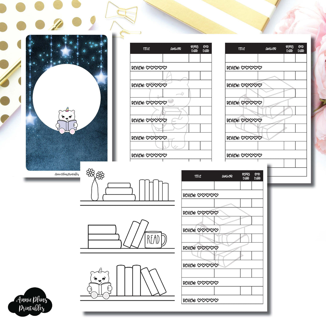 Pocket TN Size | SpotDrop Collaboration Reading Book Log Printable Insert ©