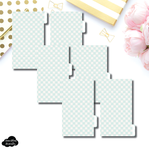 Personal Ring Dividers | Luxe Mint 6 Side Tab Printable Dividers