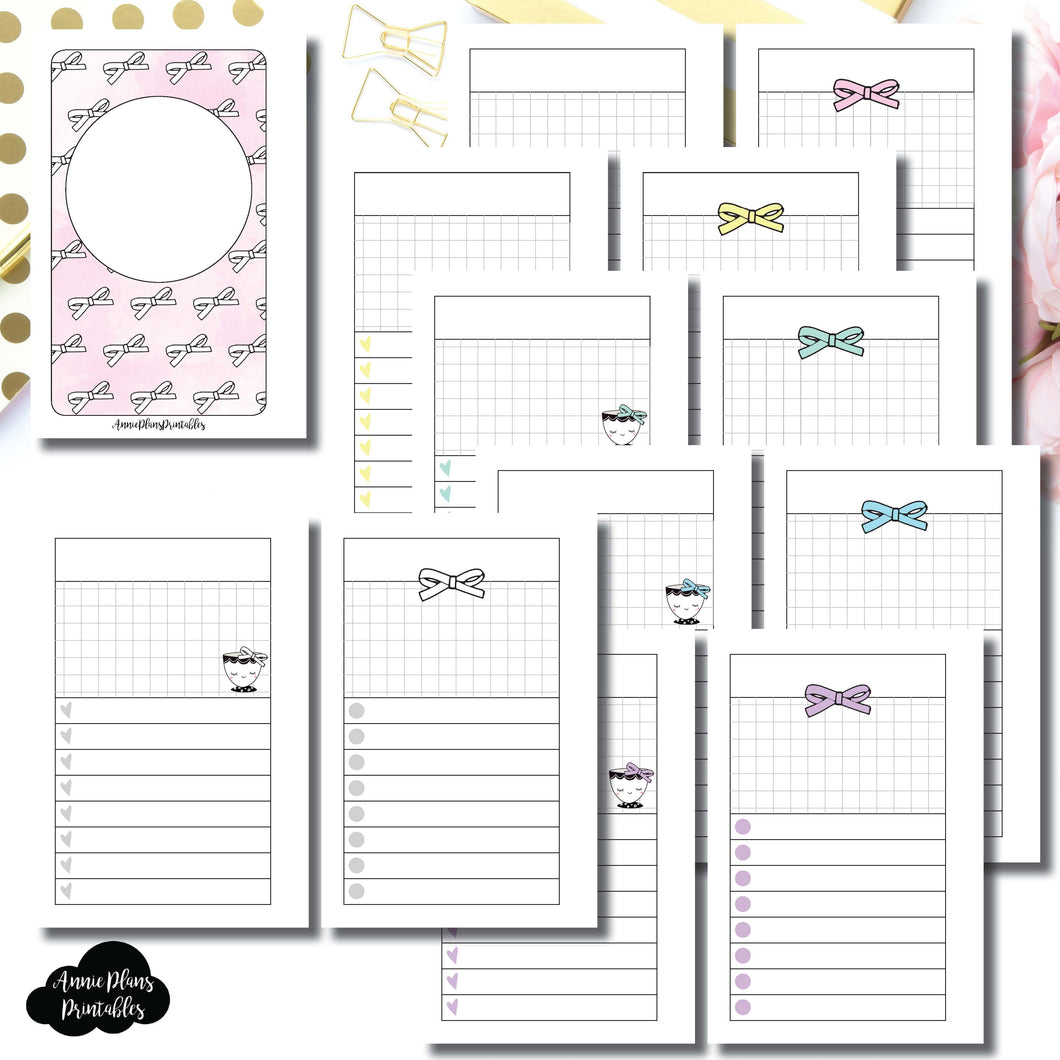 Pocket Rings Size | Undated Day on a Page or Project HappieScrappie Collaboration Printable Insert ©
