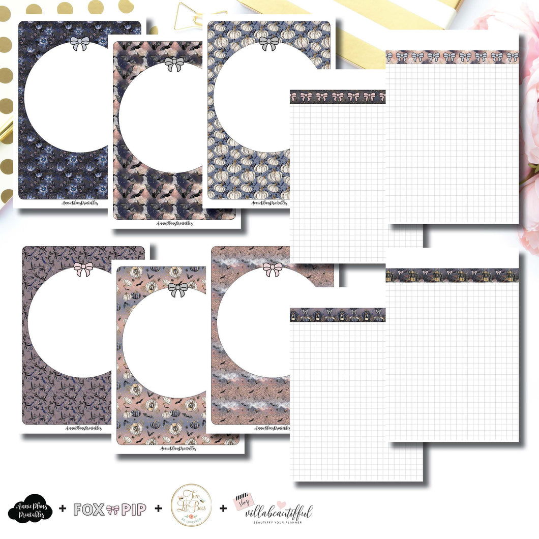B6 TN Size | Blank Covers + Undated Grid Collaboration Printable Insert ©