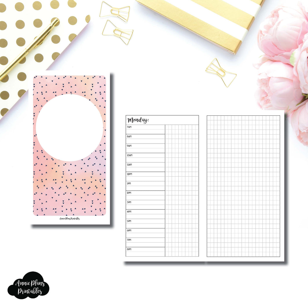 Personal TN Size | UNDATED Day on 2 Pages Printable Insert for Travelers Notebooks ©
