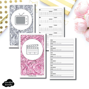 B6 SLIM TN Size | TV & Movie Tracker Bundle Printable Insert ©