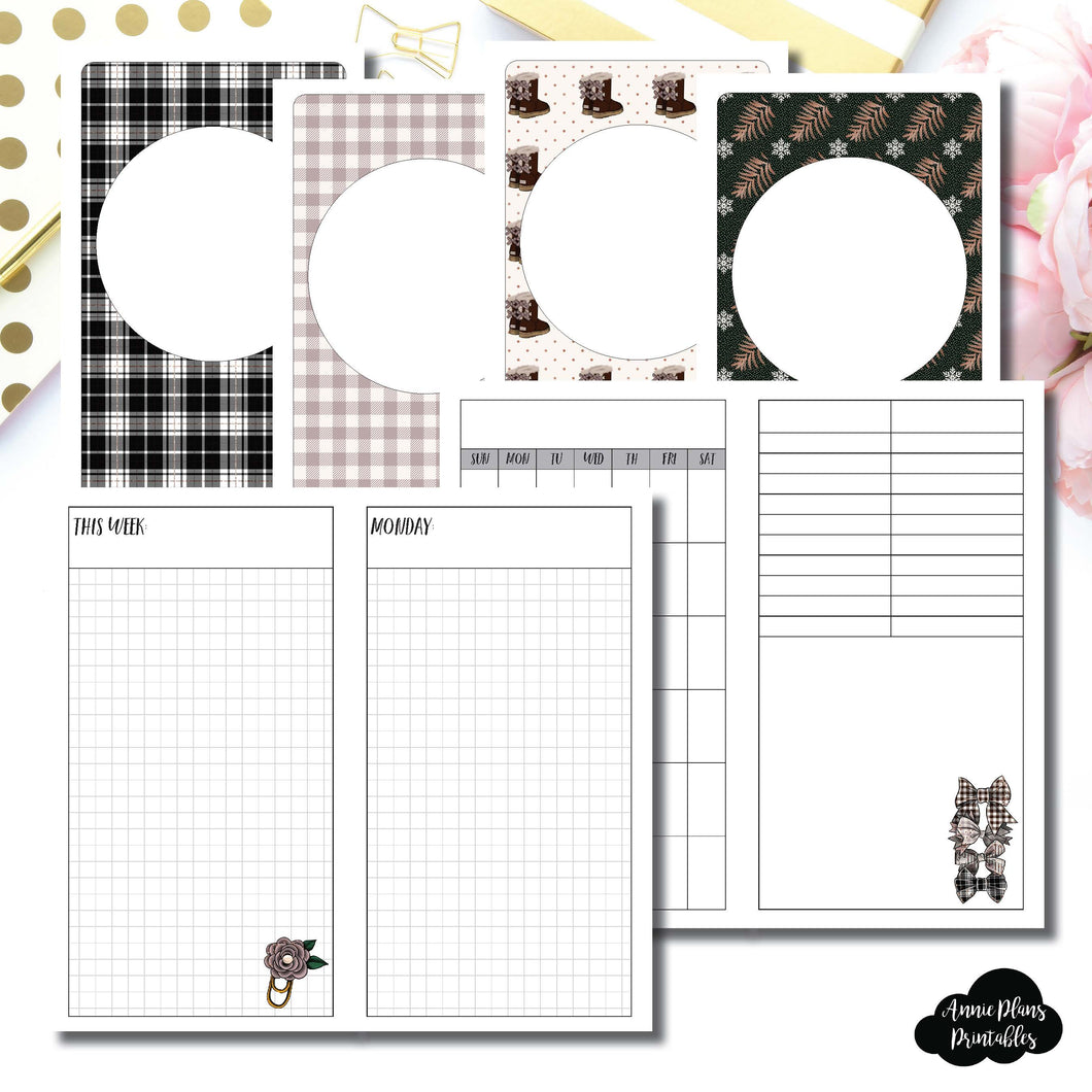PERSONAL TN Size | COZY Undated Daily Printable Insert ©