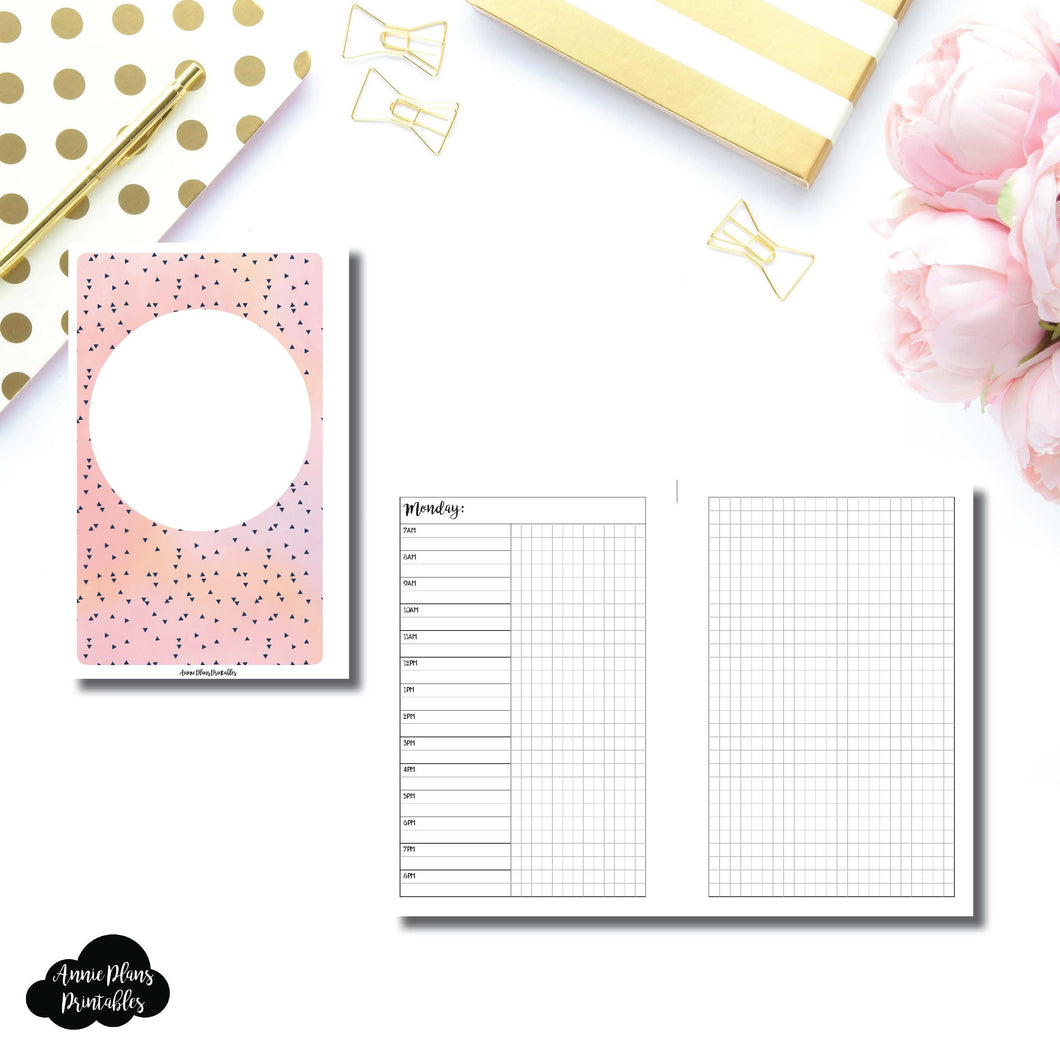 Mini HP Size | UNDATED Day on 2 Pages Printable Insert ©