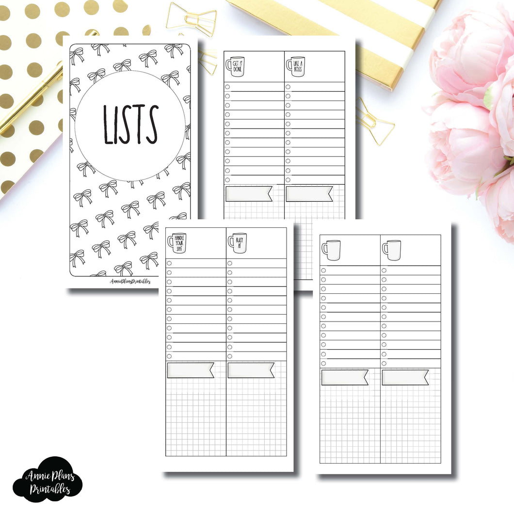 PERSONAL TN SIZE | 2 Column Lists Printable Insert ©
