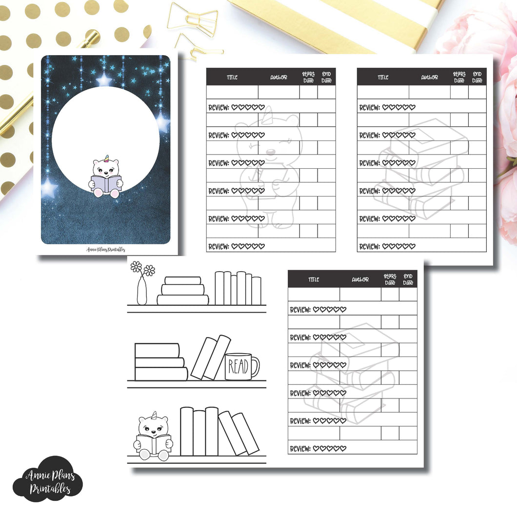 Passport TN Size | SpotDrop Collaboration Reading Book Log Printable Insert ©