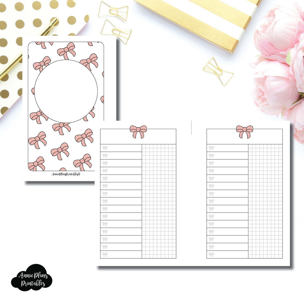 Pocket Rings Size | Fox & Pip Collaboration: List + Grid Column Printable Insert ©