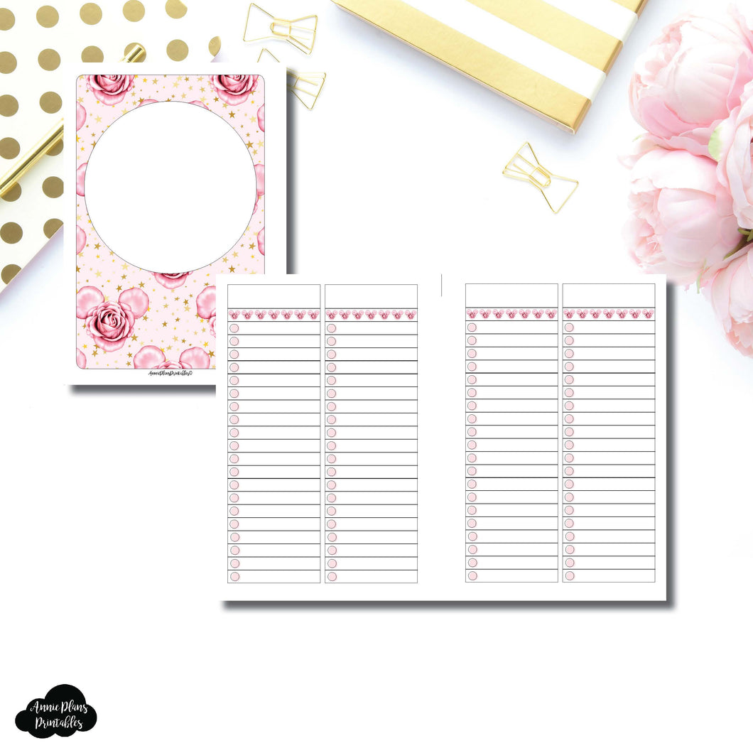 Personal Wide Rings Size | Digital Dash by Planner Press List Collaboration Printable Insert