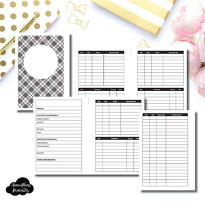 A6 Rings Size | KIDS Information Printable Insert ©