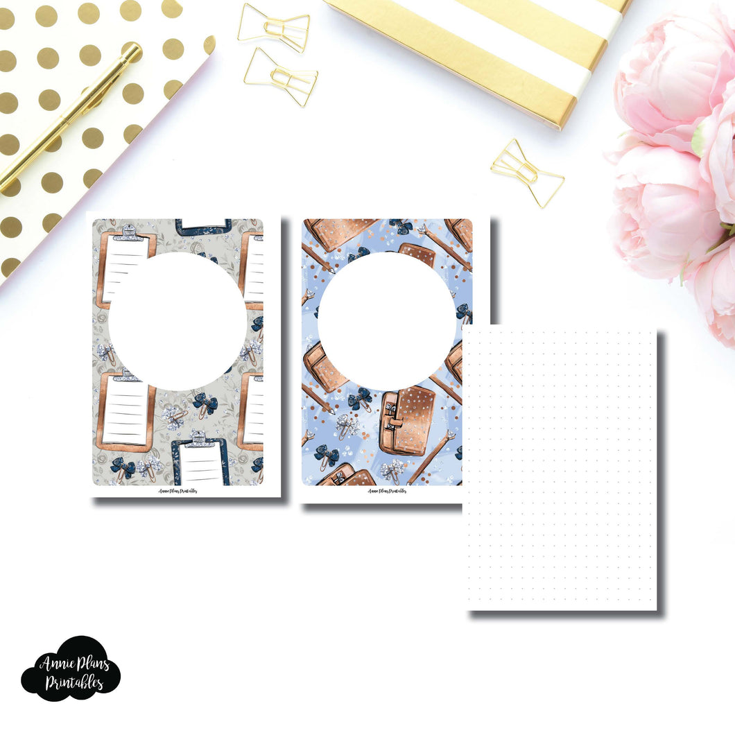 Personal Wide Rings Sized | Plain Dot Grid Printable Insert ©