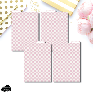 A6 Ring Dividers | Luxe Pink 4 Top Tab Printable Dividers