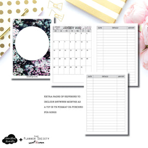 A6 TN Size | LIMITED EDITION: NOV TPS Dated Monthly Expense Collaboration Printable Insert ©
