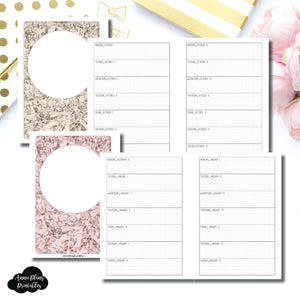 Personal Wide Rings Size | OCT 2018 - DEC 2019 Week on 1 Page Layout (Monday Start) Printable Insert ©