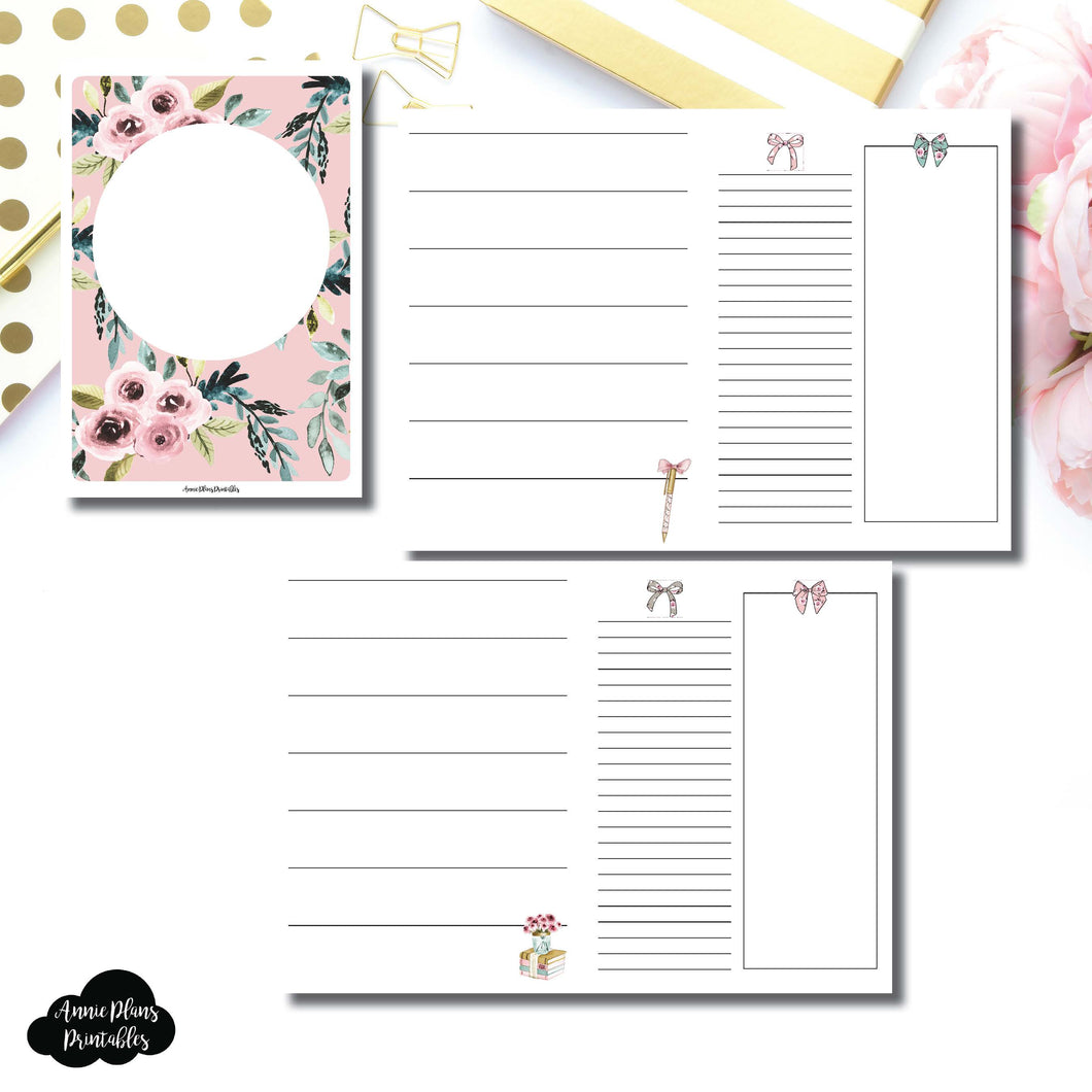 POCKET TN Size | Undated Horizontal Week on 2 Page Collaboration Printable Insert ©
