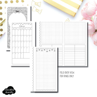 Personal Rings Size | 15 Month (OCT 2018 - DEC 2019) Fold Over EllePlan Collaboration Printable Insert ©
