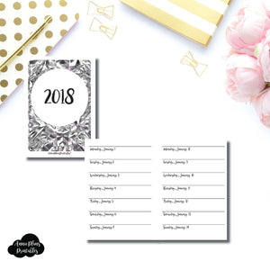 Passport TN Size  | 2018 Week on 1 Page Layout (Monday Start) Printable Insert ©