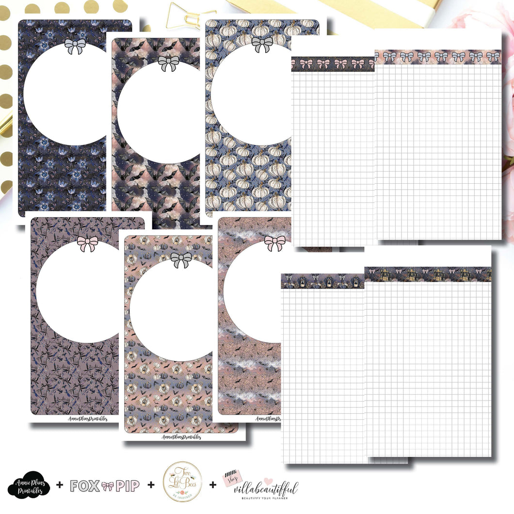 B6 SLIM TN Size | Blank Covers + Undated Grid Collaboration Printable Insert ©