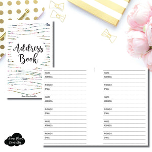 Pocket Rings SIZE | Address Book Printable Insert ©