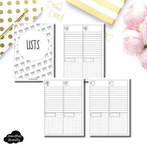 B6 Rings SIZE | 2 Column Lists Printable Insert ©