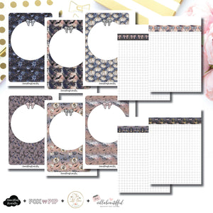 A6 Rings Size | Blank Covers + Undated Grid Collaboration Printable Insert ©