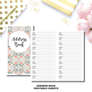 Standard TN Size | Address Book Printable Insert ©