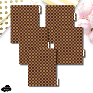 B6 Ring Dividers | Luxe Brown 5 Side Tab Printable Dividers