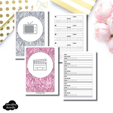 FC RINGS Size | TV & Movie Tracker Bundle Printable Insert ©