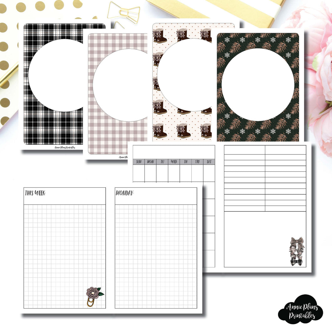A6 TN Size | COZY Undated Daily Printable Insert ©