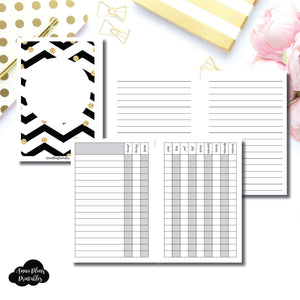 Personal Wide Rings Size | 12 Month Checklist Tracker Printable Insert ©