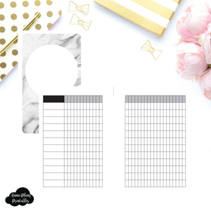 Pocket Rings Size | Undated 12 Month Habit Tracker Printable Insert ©