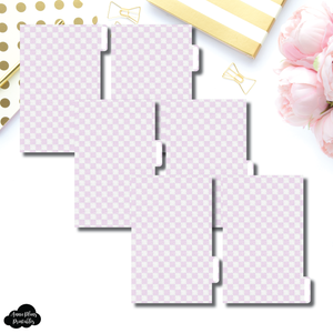 FC Ring Dividers | Luxe Lilac 6 Side Tab Printable Dividers
