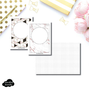 A6 TN Size | Plain GRID Printable Inserts ©