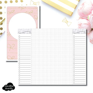 Cahier TN Size | List + Grid Collaboration Printable Insert