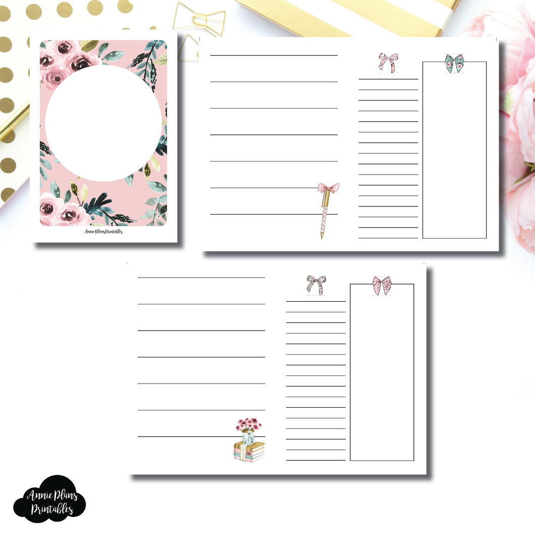 PASSPORT TN Size | Undated Horizontal Week on 2 Page Collaboration Printable Insert ©