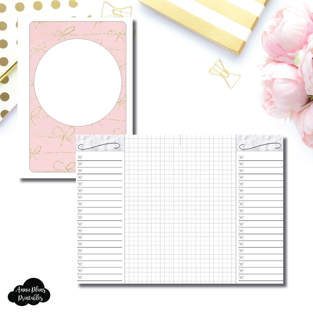Personal Wide Rings Size | List + Grid Collaboration Printable Insert