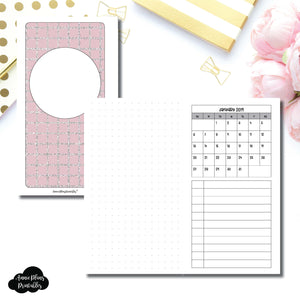 Personal Rings Size | 2019 Monthly Dated Important Dates with Dot Grid Printable Insert ©