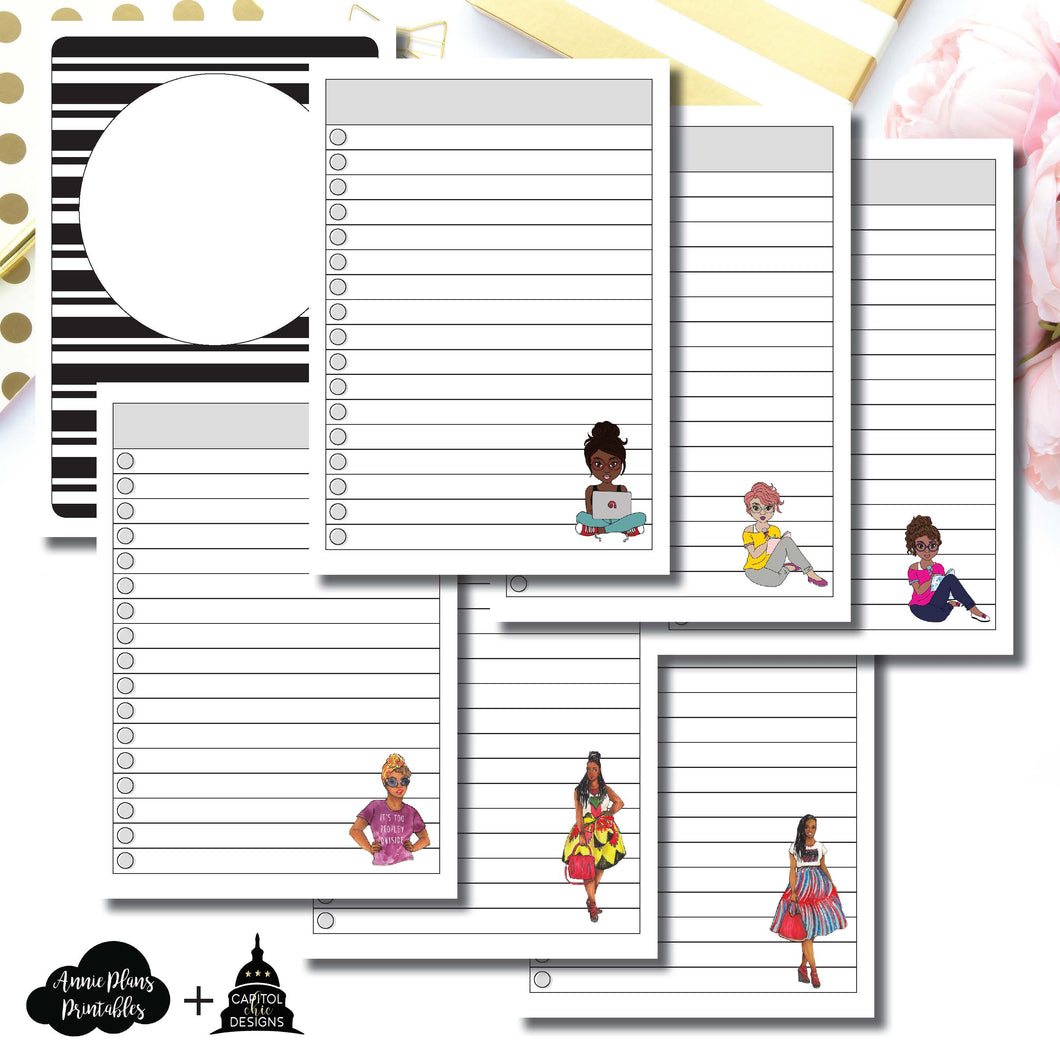A6 TN Size | Capital Chic Designs Collaboration LIST Printable Insert ©