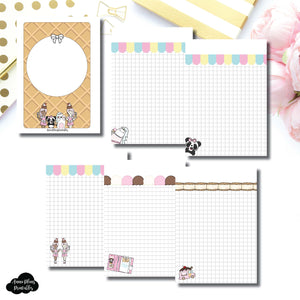 A6 Rings Size | Sundae Notes Collaboration Printable Insert ©