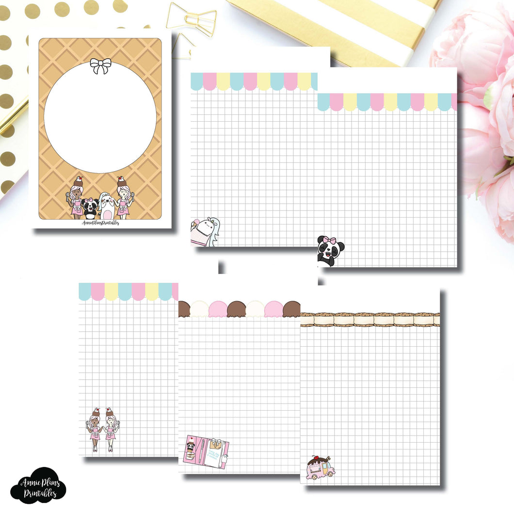 A6 TN Size | Sundae Notes Collaboration Printable Insert ©