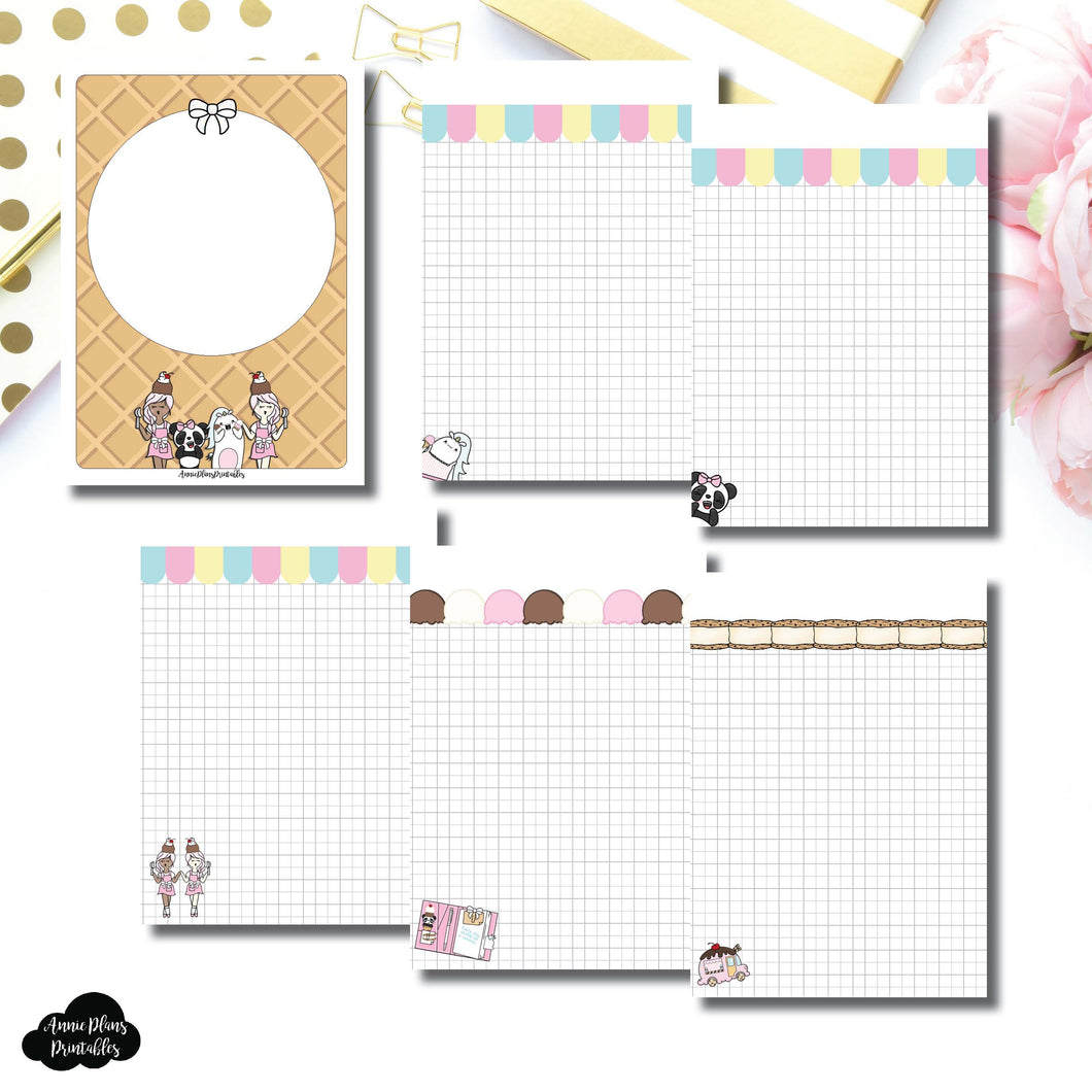 B6 TN Size | Sundae Notes Collaboration Printable Insert ©