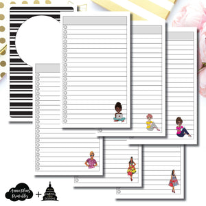 B6 Slim TN Size | Capital Chic Designs Collaboration LIST Printable Insert ©